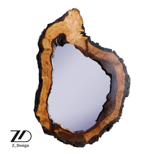 آینه چوبی دیواری