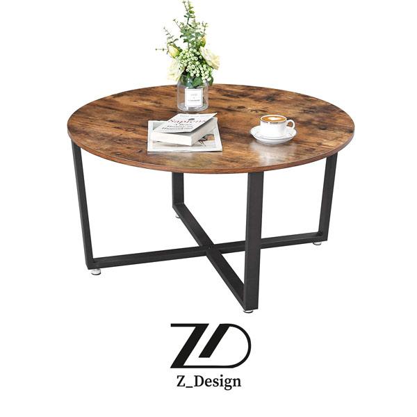 میز دایره چوبی