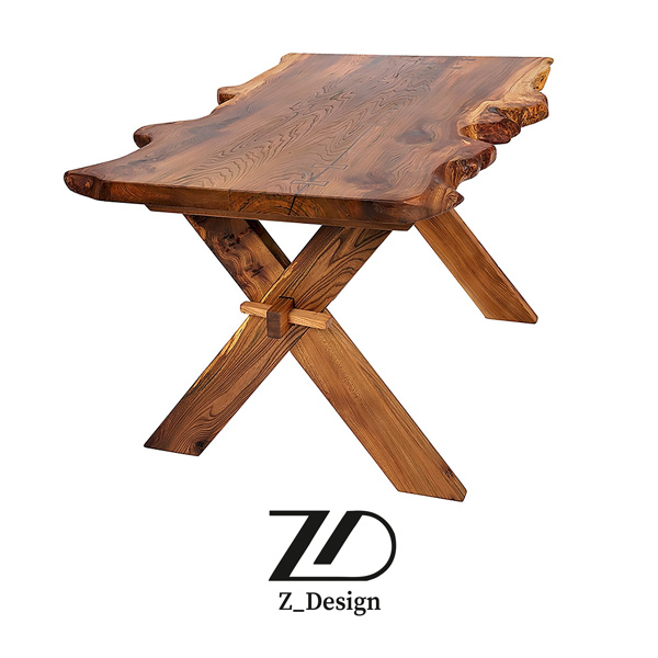 خرید میز چوبی روستیک