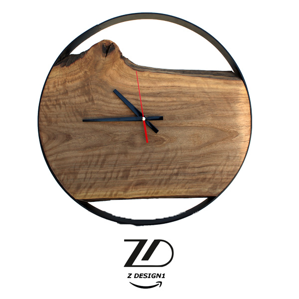 ساعت چوبی روستیک