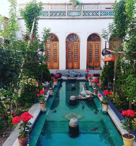 طراحی حیاط ایرانی