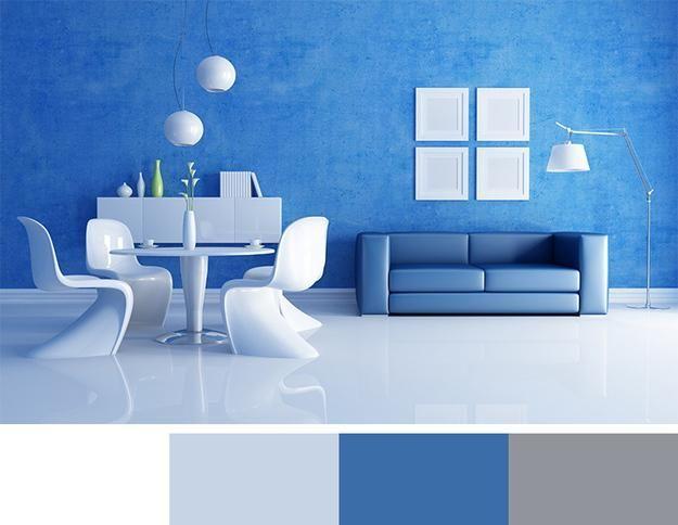 رنگ آبی دکوراسیون