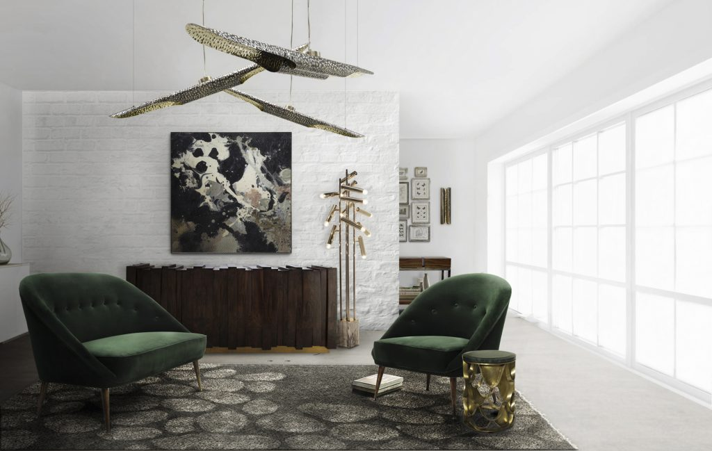 floor lamps and furniture