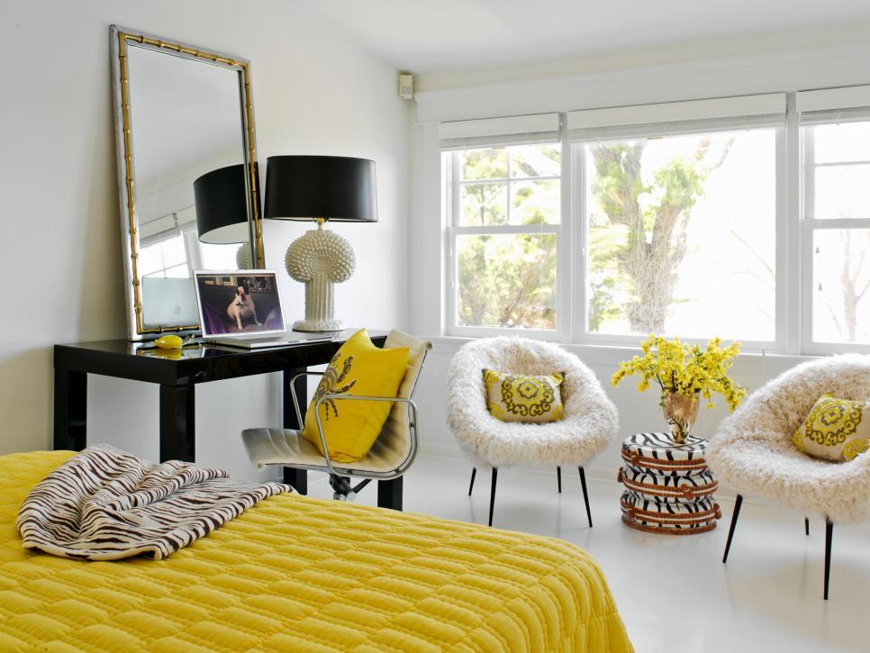 رنگ زرد در اتاق خواب