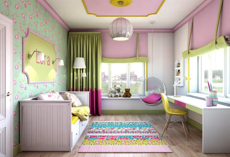 رنگ مناسب در اصول طراحی اتاق کودک