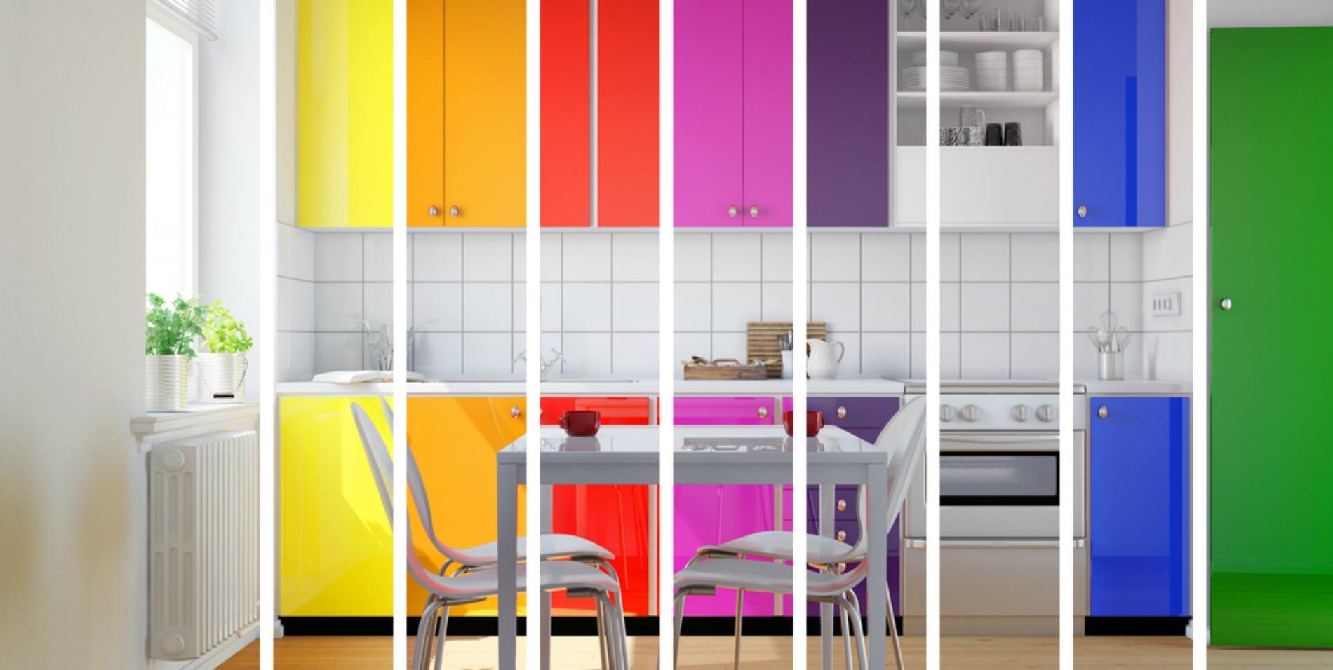 تاثیر رنگ در آشپزخانه