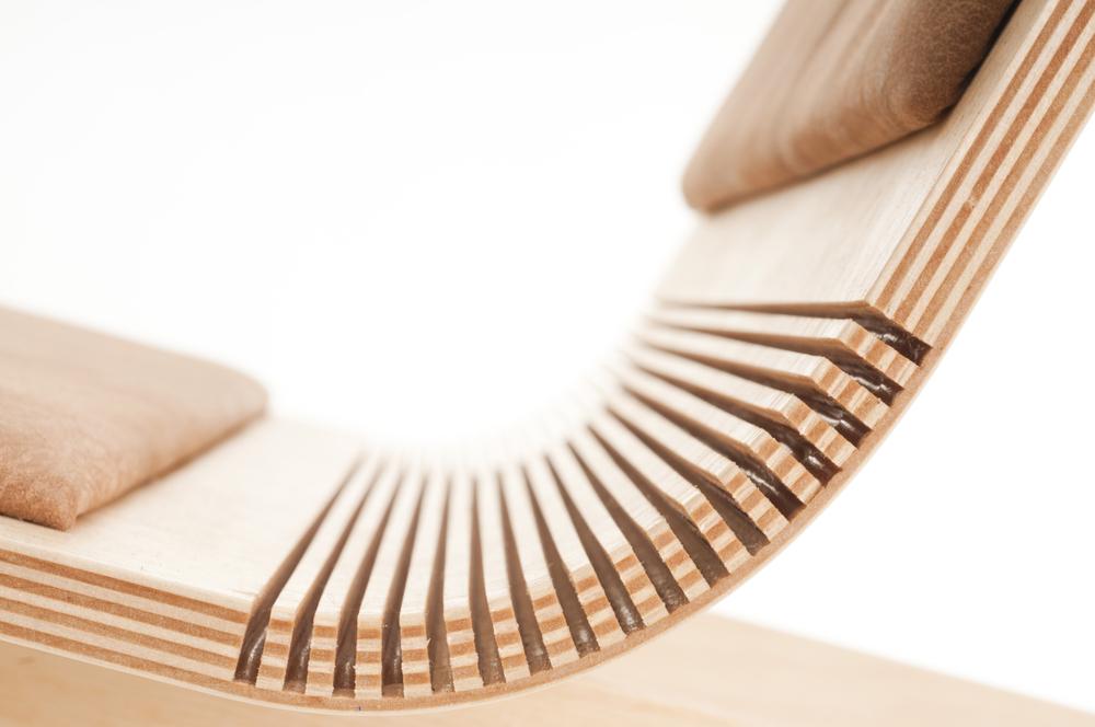 خم کردن چوب به روش شیار زنی