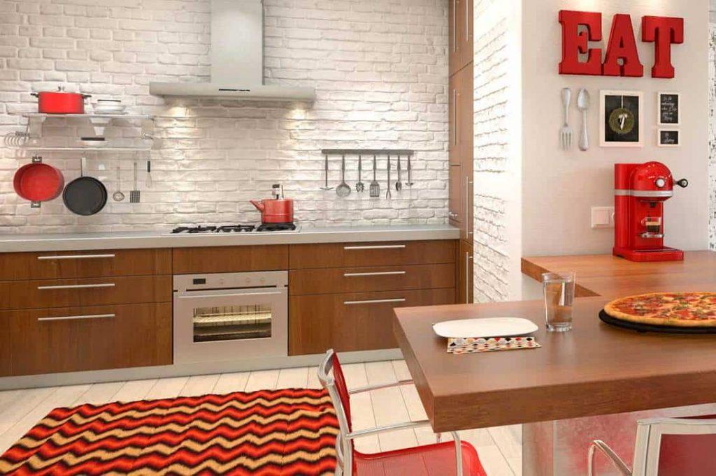 رنگ قرمز در آشپزخانه
