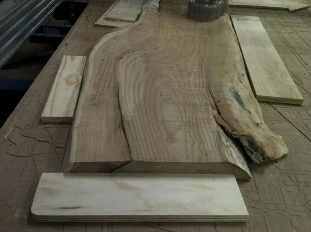 کف تراشی اسلب چوبی با روش سی ان سی