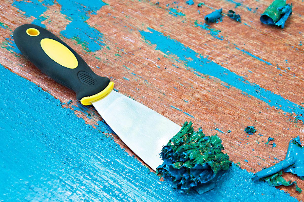 پاک کردن رنگ چوب