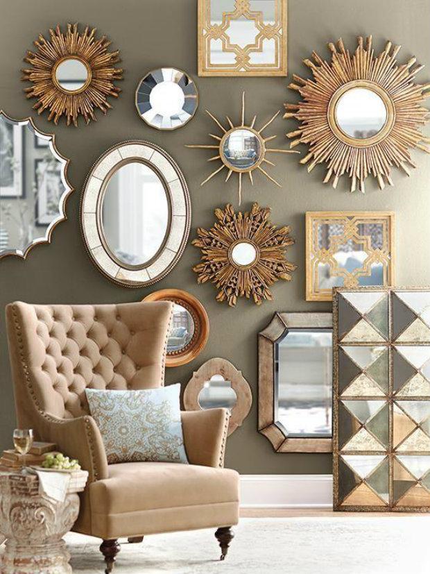Multi-piece mirror