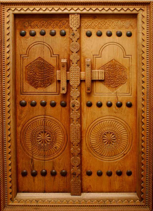 ایده های منبت کاری بر روی درب تمام چوب ورودی
