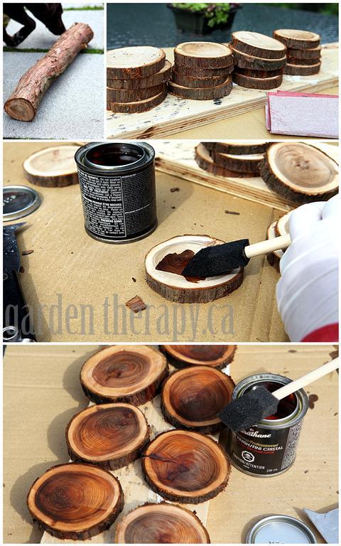 مراحل ساخت زیر استکانی با ساقه درخت