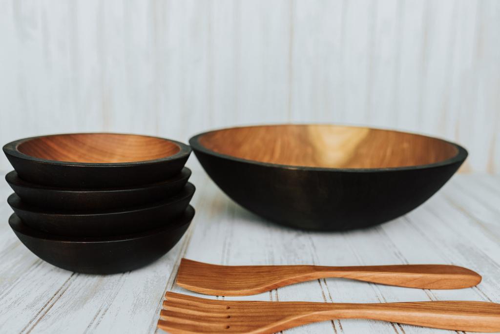 ساخت ظرف مدرن و خاص با چوب آبنوس