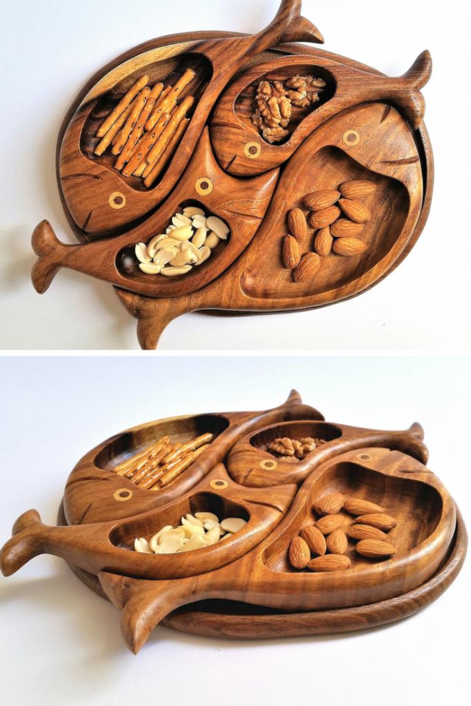 رنگ ظرف چوبی