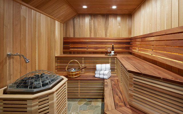 ساخت سونا چوبی