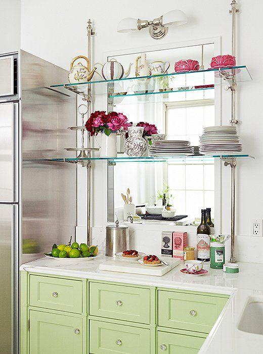 آینه برای دکوراسیون آشپزخانه کوچک